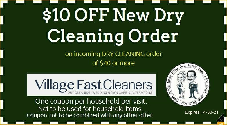Coupon for Village East Cleaners - 1